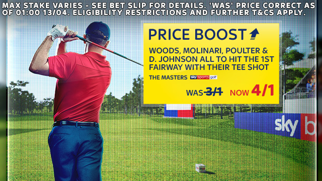 The Masters Day 3 Price Boost